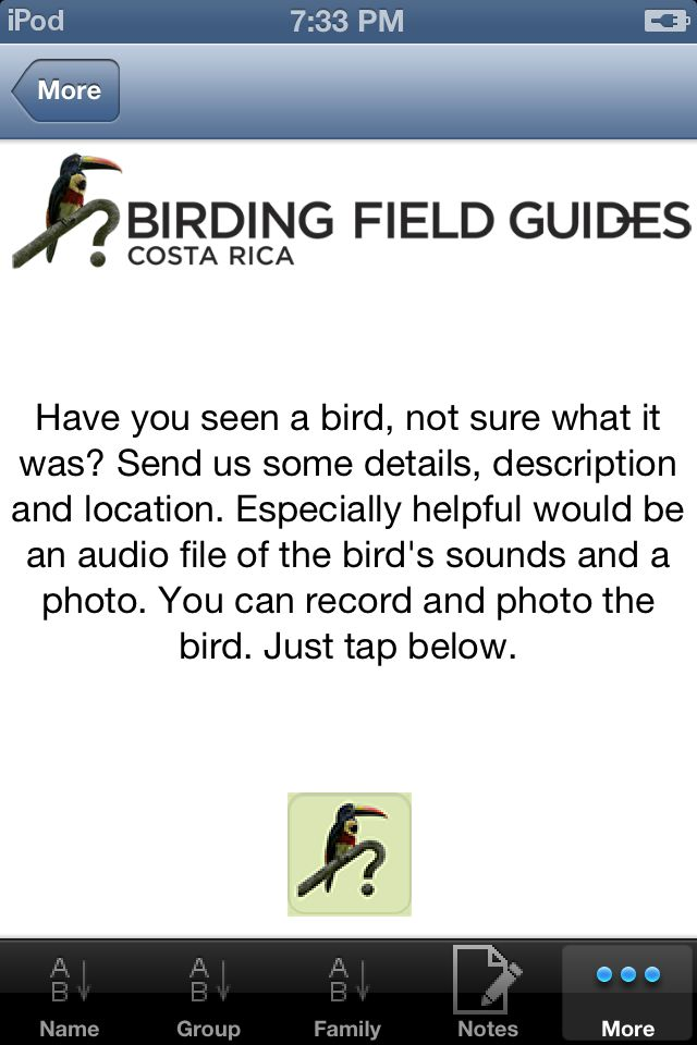 Using the Which Bird is It Function on our Birding Apps for Costa Rica and Panama